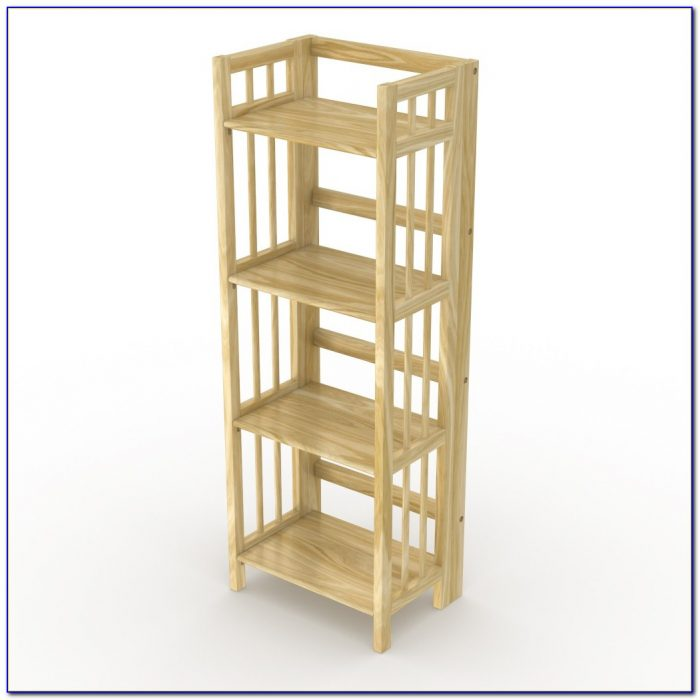 Natural Wood Cube Bookcase