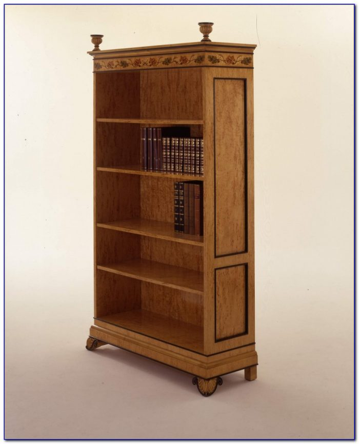Natural Wood Leaning Bookcase