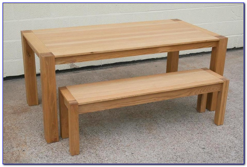 Oak Dining Table Bench Seats