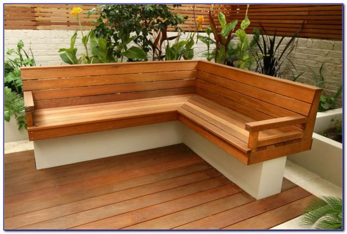 Outdoor Wood Storage Bench Design