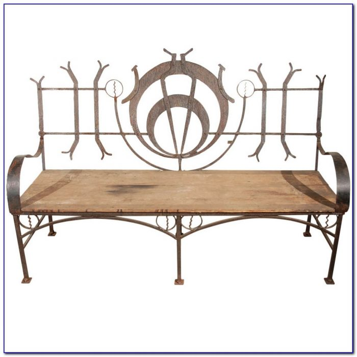 Outdoor Wrought Iron Benches