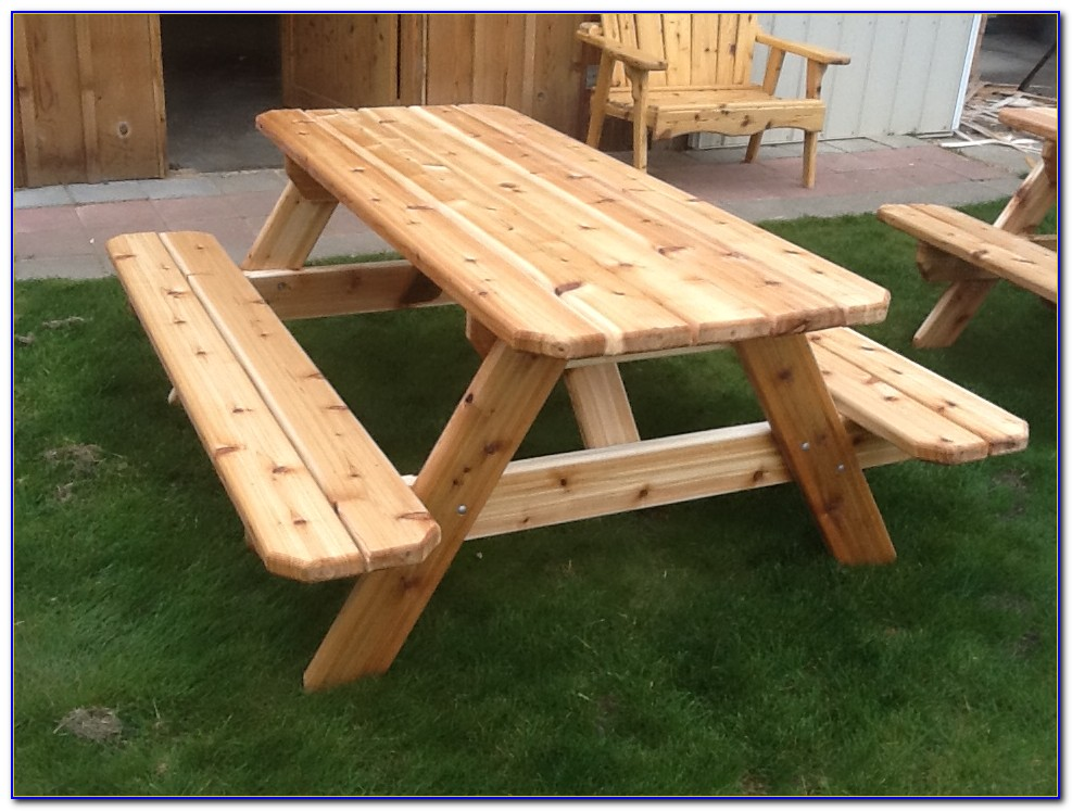 Picnic Bench And Table