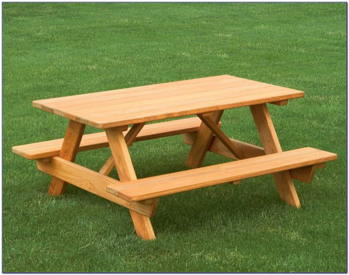 Picnic Bench Into Table