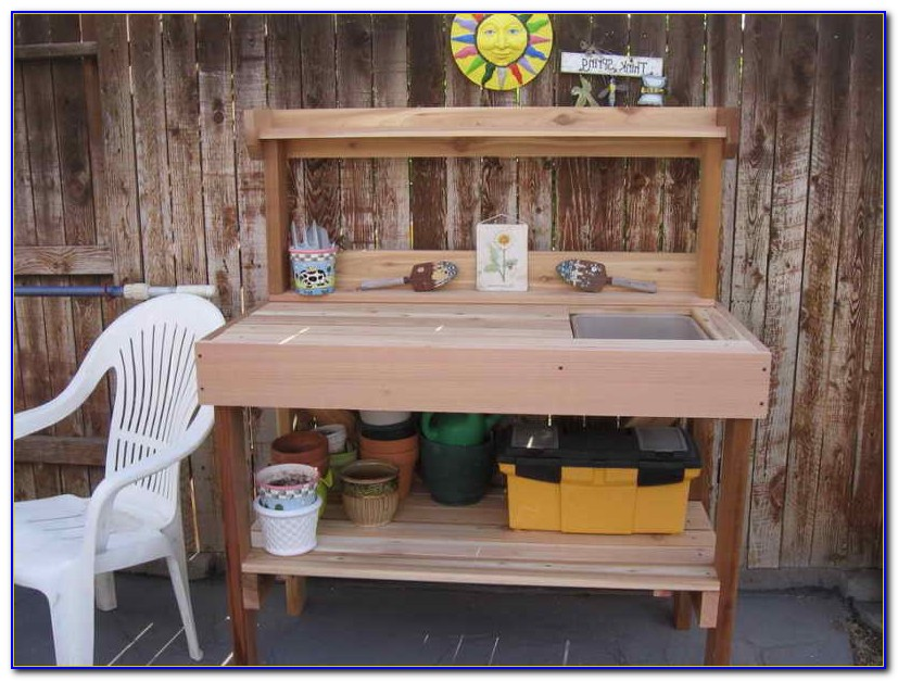 Potting Table Plans With Sink