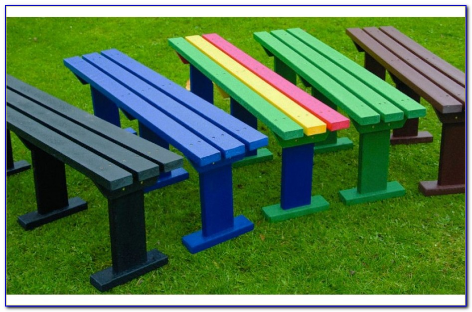 Recycled Benches For Schools