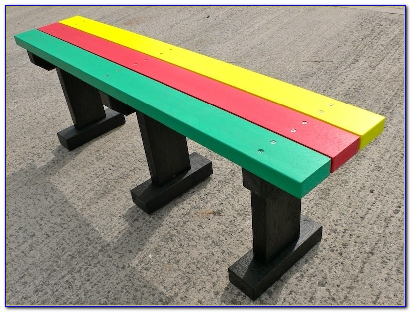 Recycled Plastic Benches For Schools