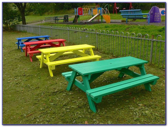 Recycled Plastic Picnic Benches For Schools