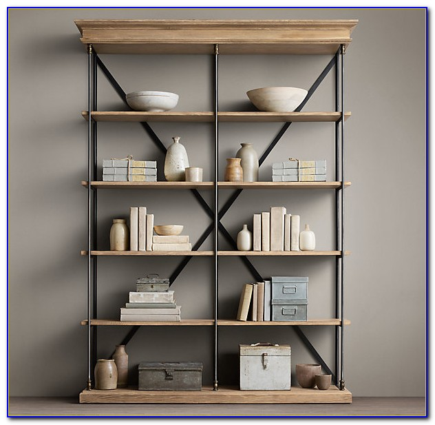 Restoration Hardware Bookcase With Ladder