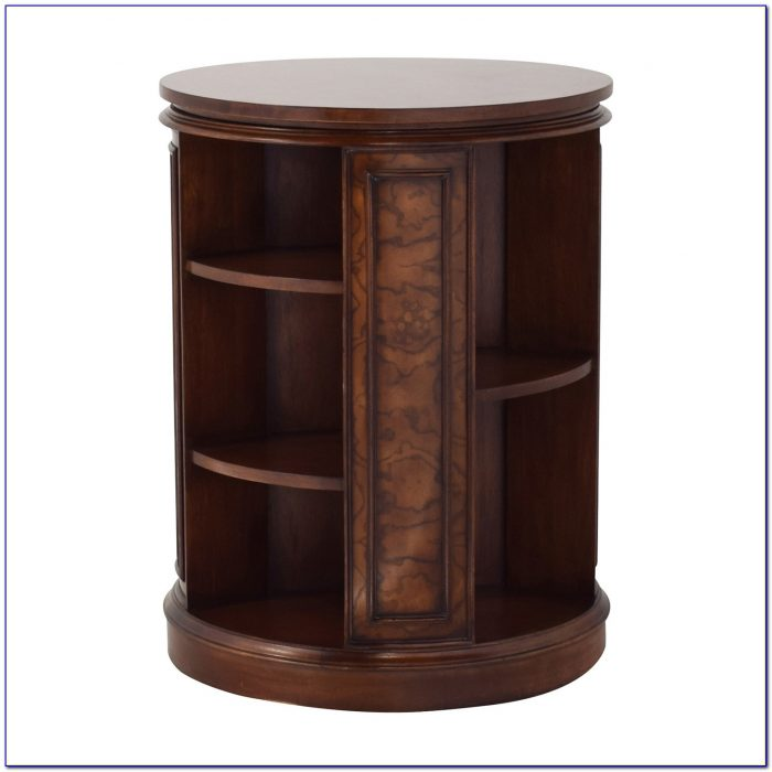 Rotating Bookcase End Table