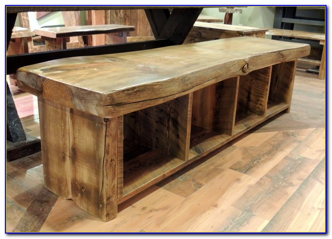 Rustic Dining Tables With Bench Seating