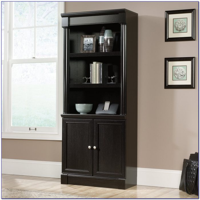 Sauder 5 Shelf Bookcase With Doors