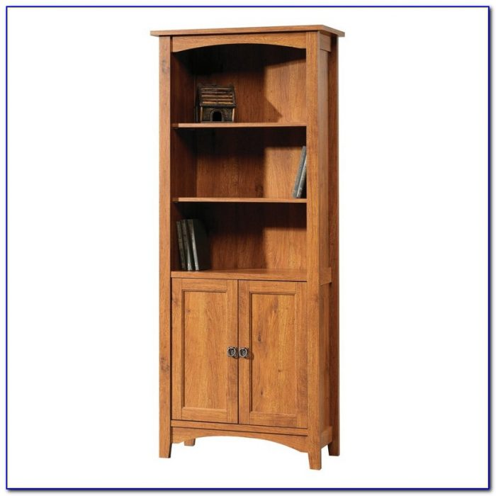Sauder Bookcase With Doors Bookcase Home Design Ideas
