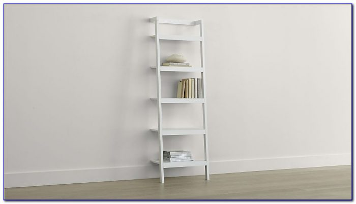 Sawyer White Leaning Bookcase