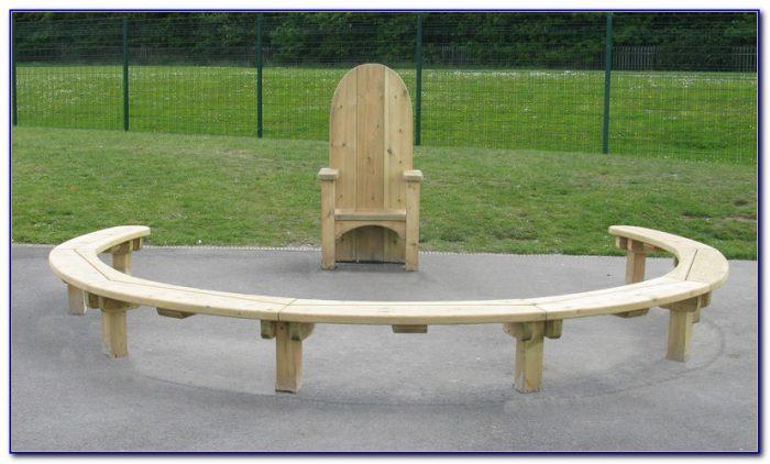Semi Circular Wooden Garden Bench