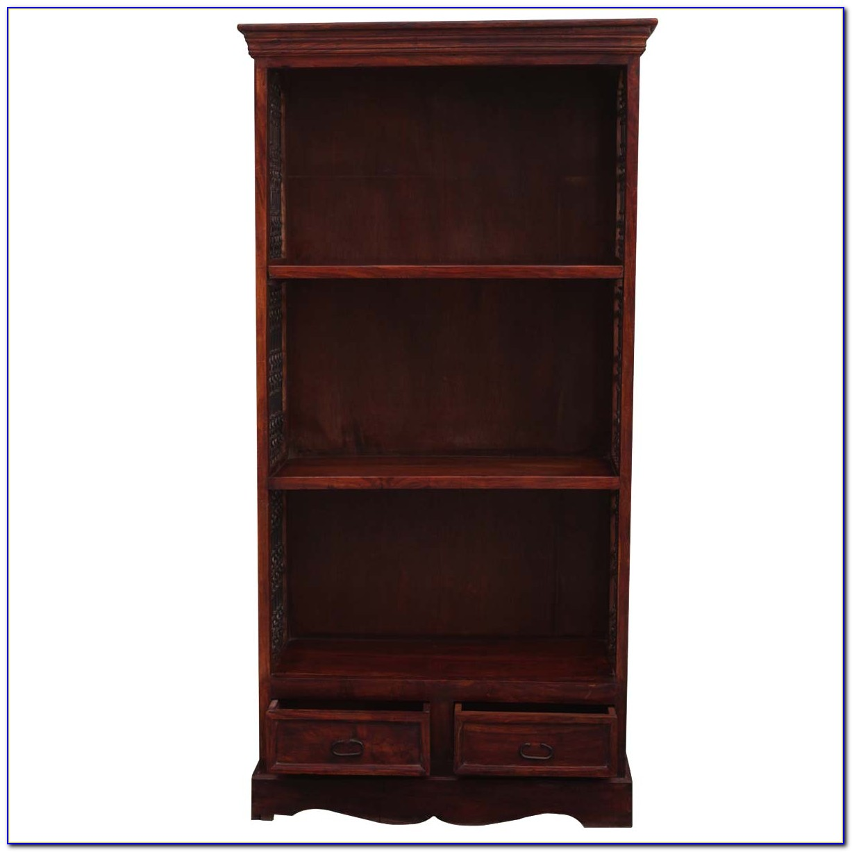 Solid Wood Bookcase Headboard King