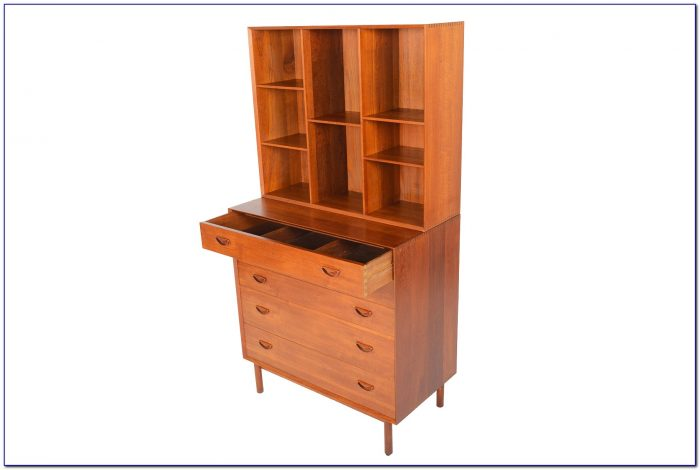 Solid Wood Dresser With Bookcase
