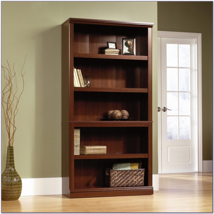 South Shore Axess Collection 5 Shelf Narrow Bookcase Royal Cherry
