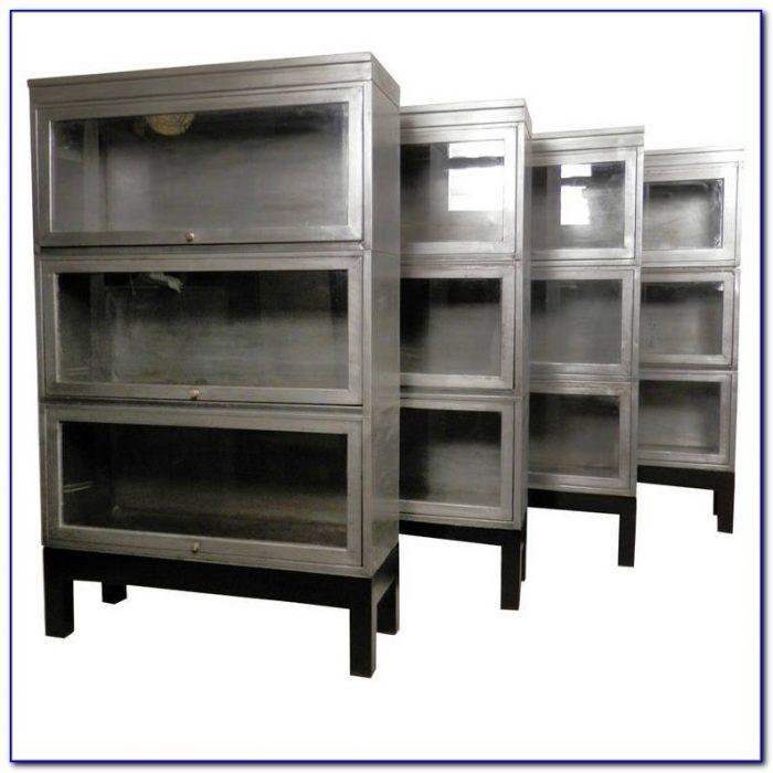 Steel Barrister Bookcase: Oak Express Barrister Bookcase