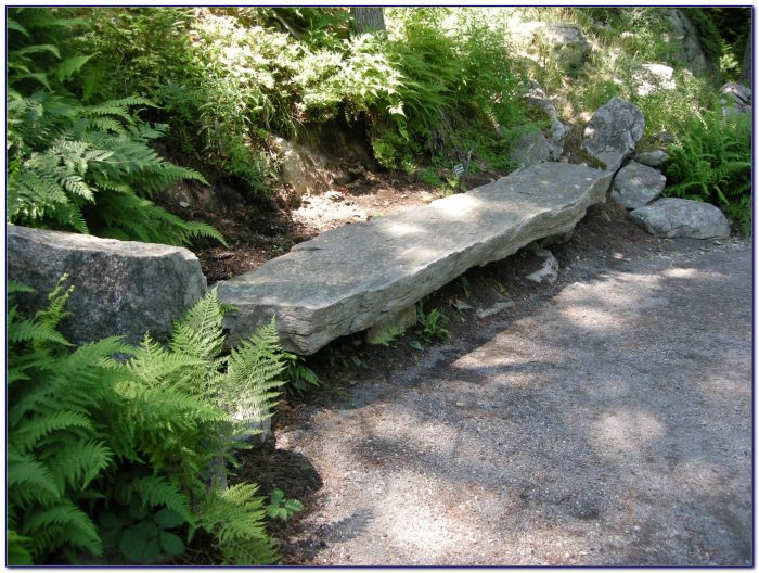 Stone Benches For The Garden Calgary Bench Home Design