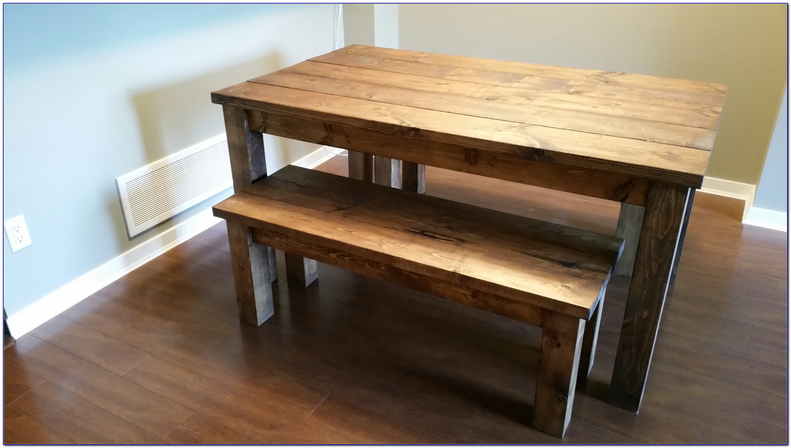 Table And Benches Dining