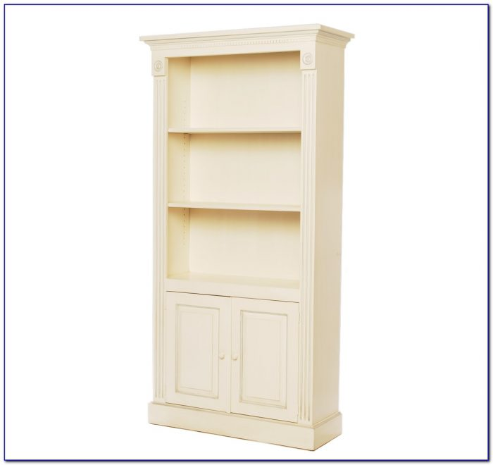 Tall Bookcase With Doors White