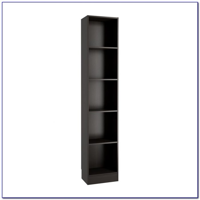 Tall Narrow Bookcase Black