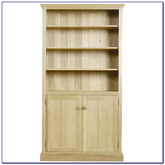 Tall Shallow Bookcase With Doors