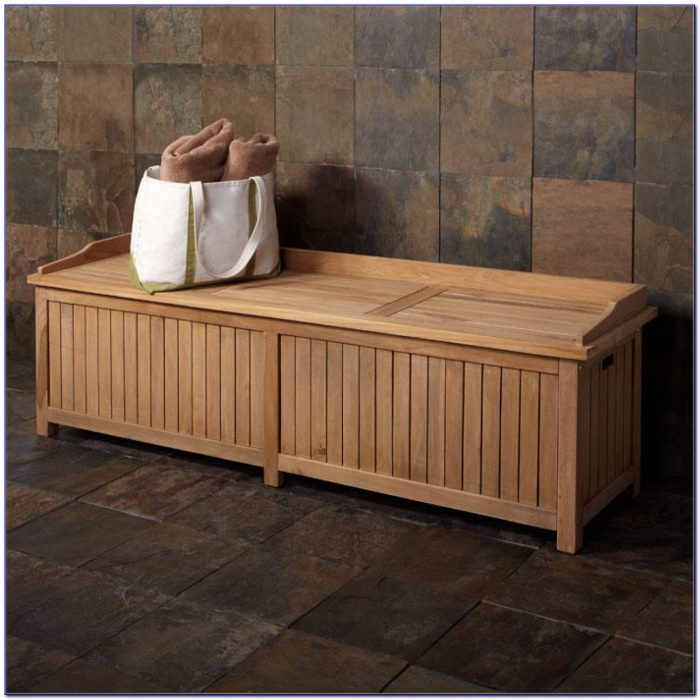Teak Bench With Storage
