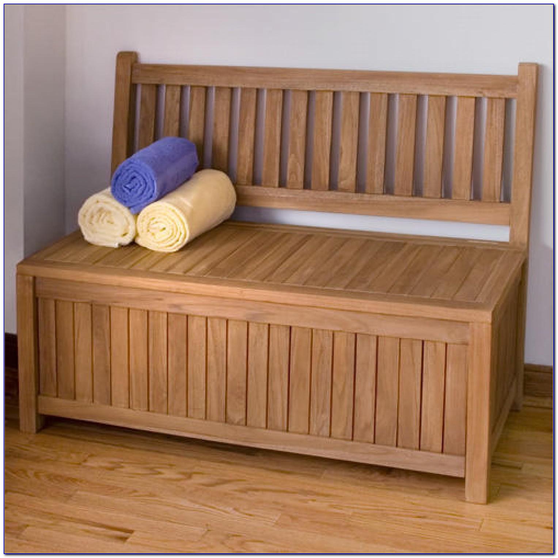 Teak Outdoor Bench With Storage