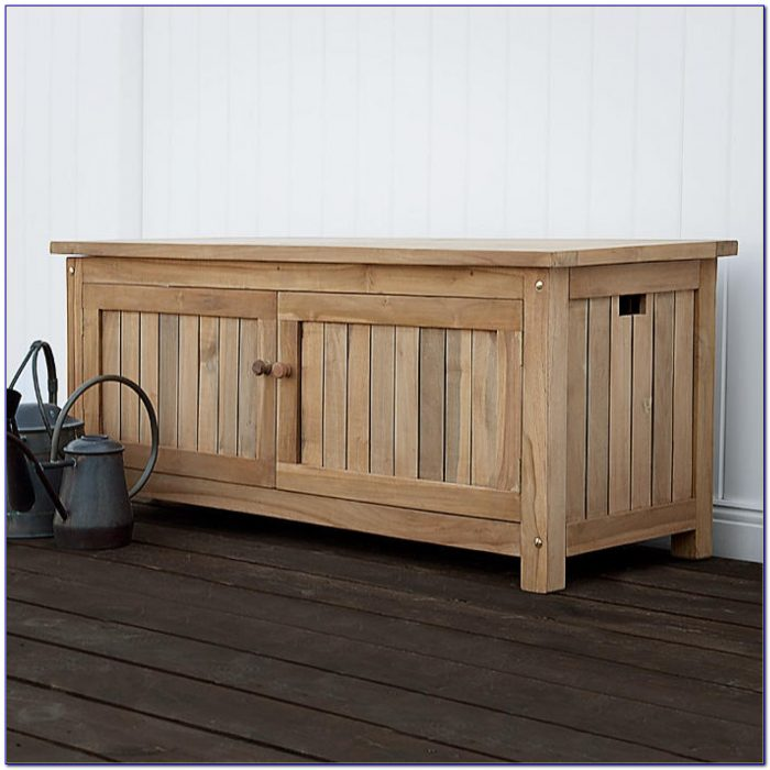 Teak Patio Storage Box