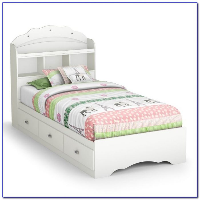 Twin Bed With Bookcase And Storage