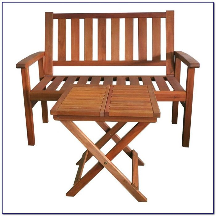 Two Seater Bench With Table