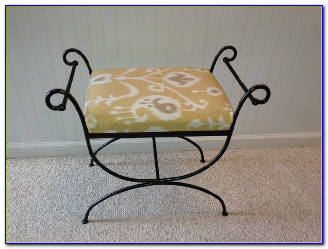 Vintage Wrought Iron Vanity Chair