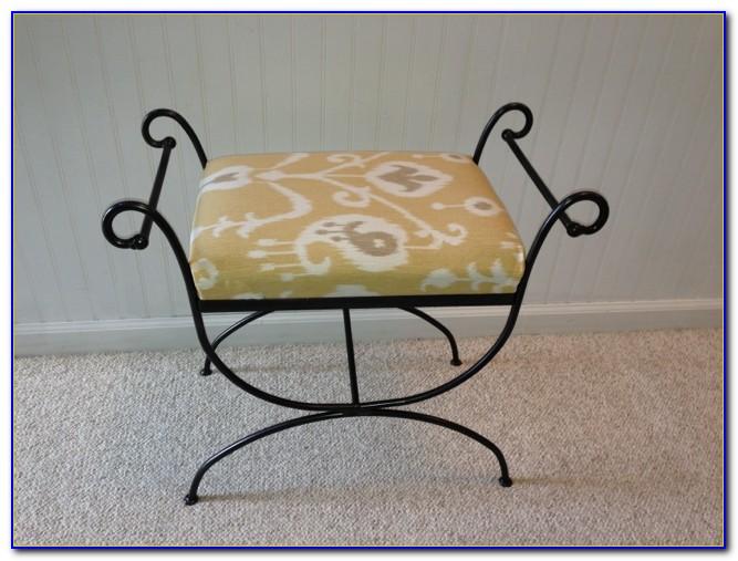 Vintage Wrought Iron Vanity Chair