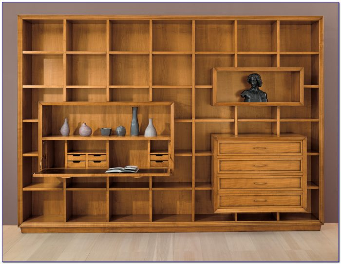 Wall Unit Bookcase With Desk