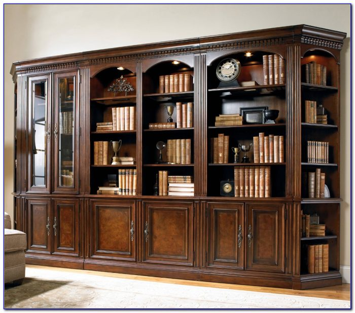 Wall Unit Bookcase With Doors