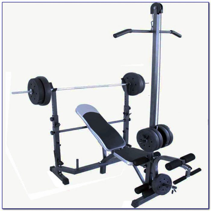 Weight Lifting Bench Set With Weights