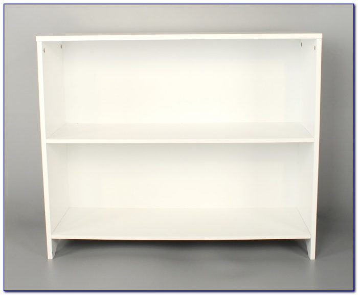 White 2 Shelf Bookcase