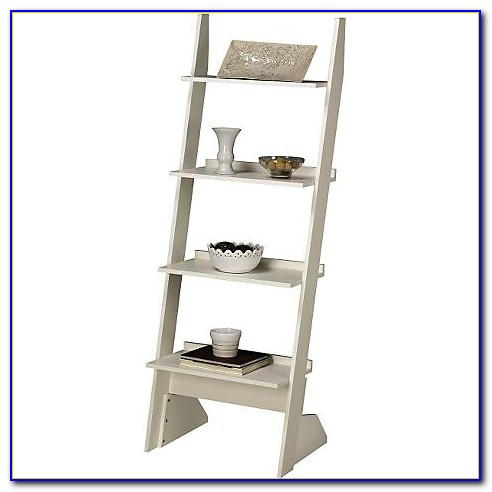White Leaning Bookcase Uk