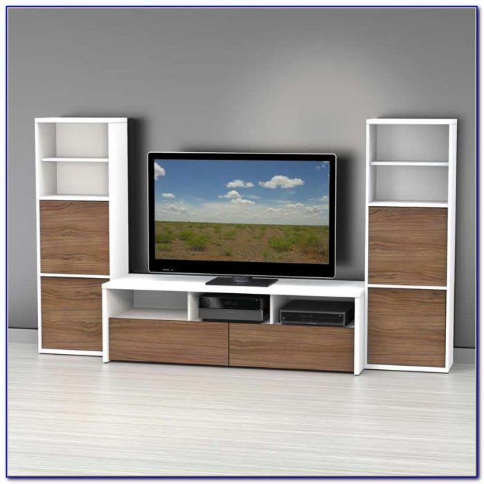 White Tv Stand With Bookcase