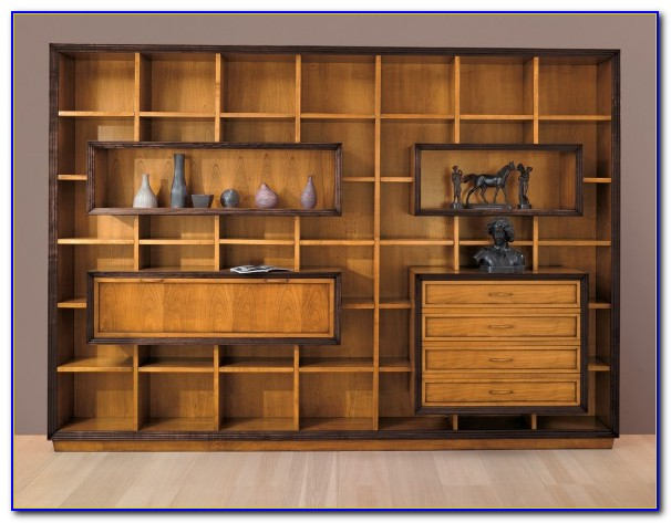 White Wall Unit Bookcases