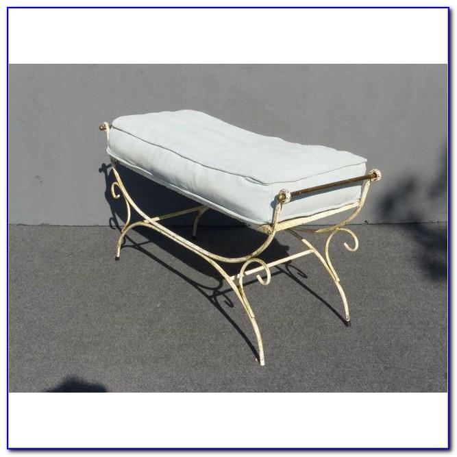 White Wrought Iron Vanity Chair