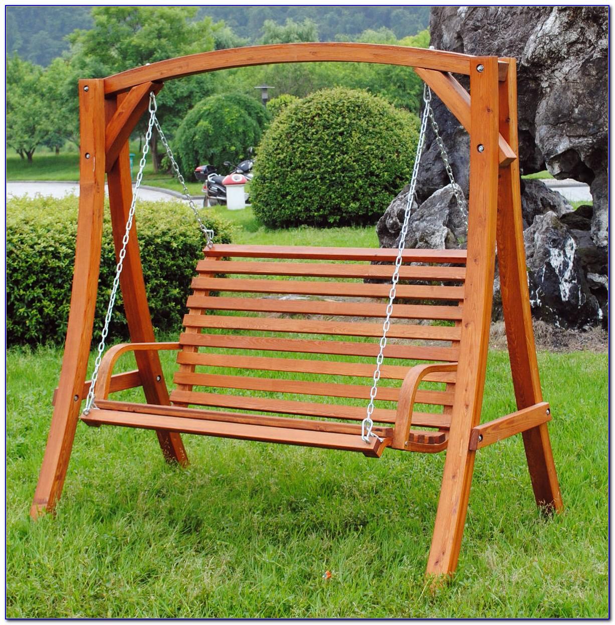 Wood Garden Swing Bench