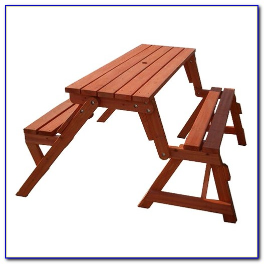 Wood Picnic Bench And Table