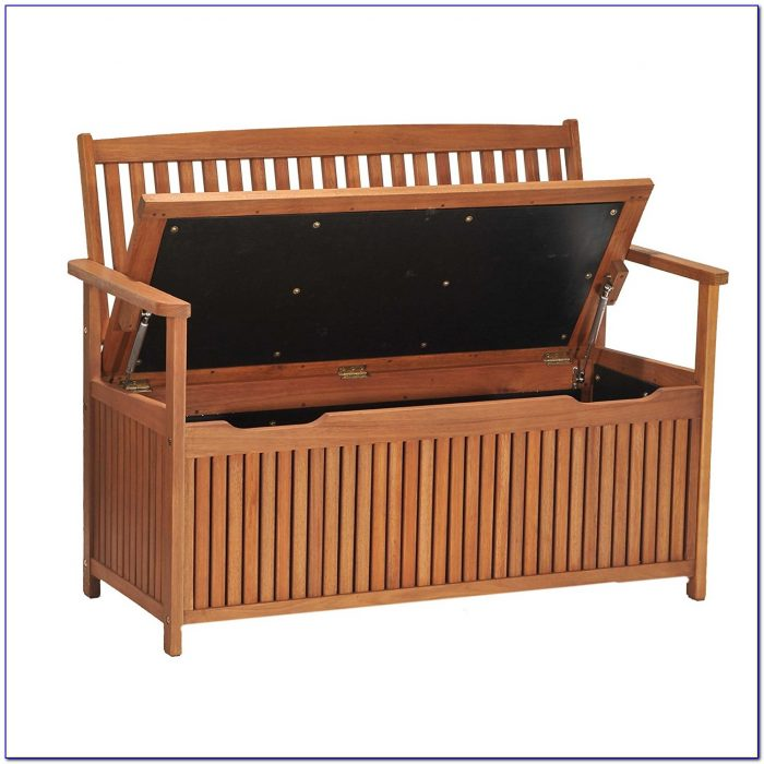 Wooden Bench Storage Seat