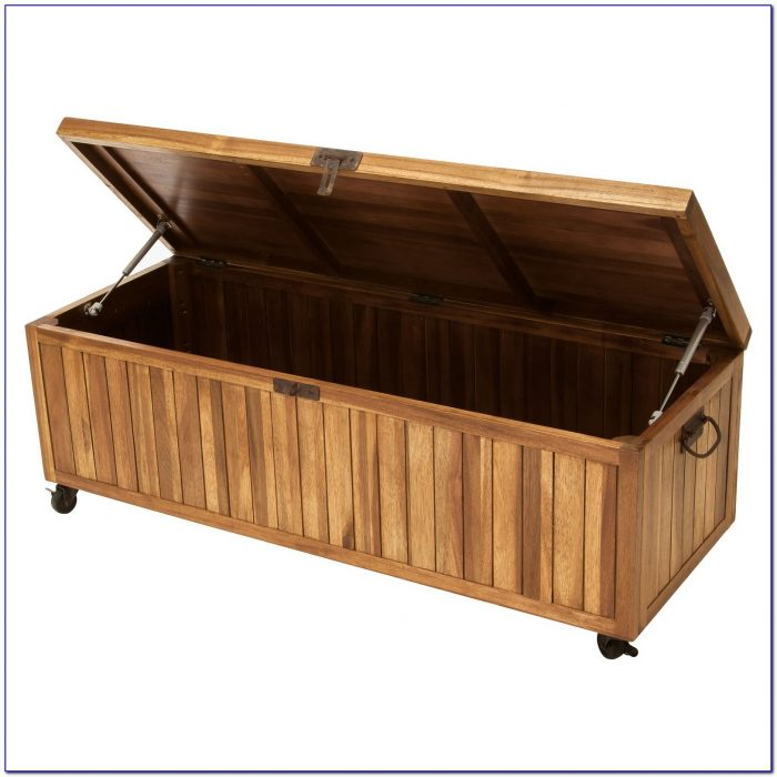 Wooden Bench With Storage Indoor