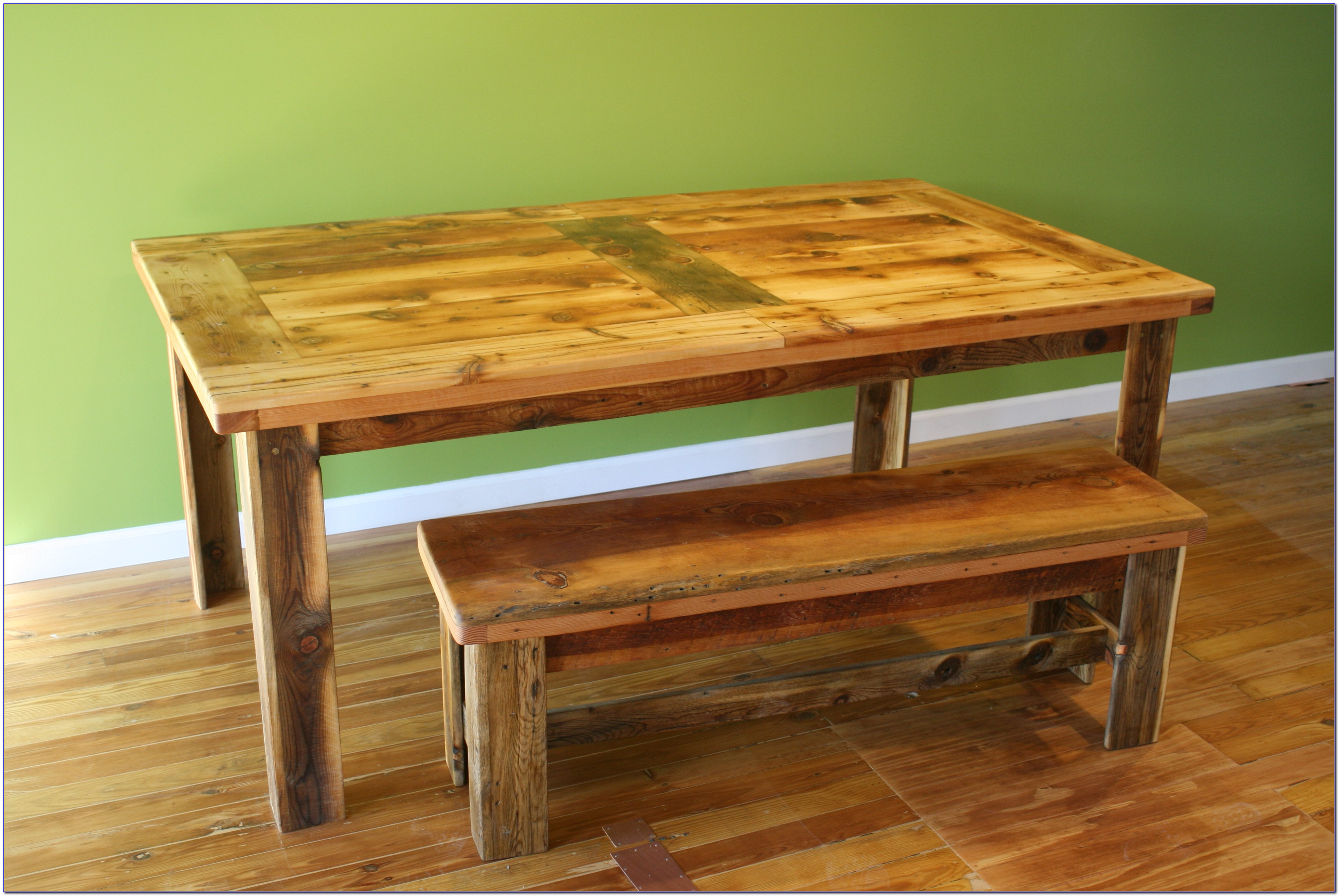 Wooden Dining Room Bench With Back