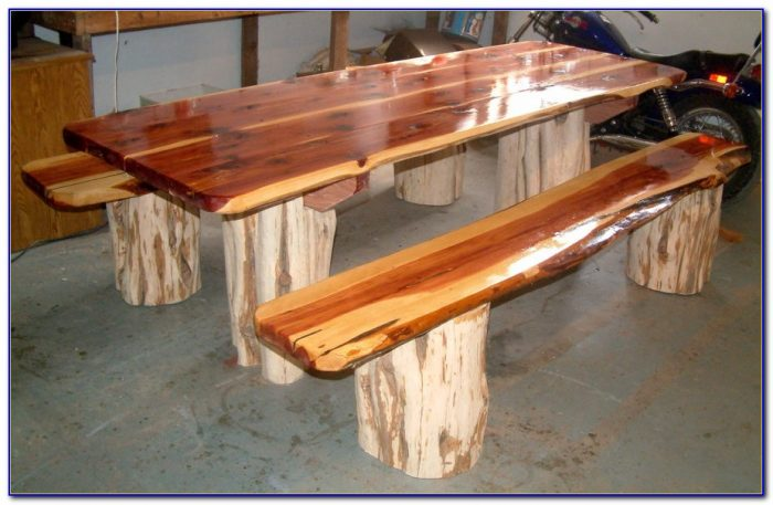 Wooden Garden Picnic Table And Bench