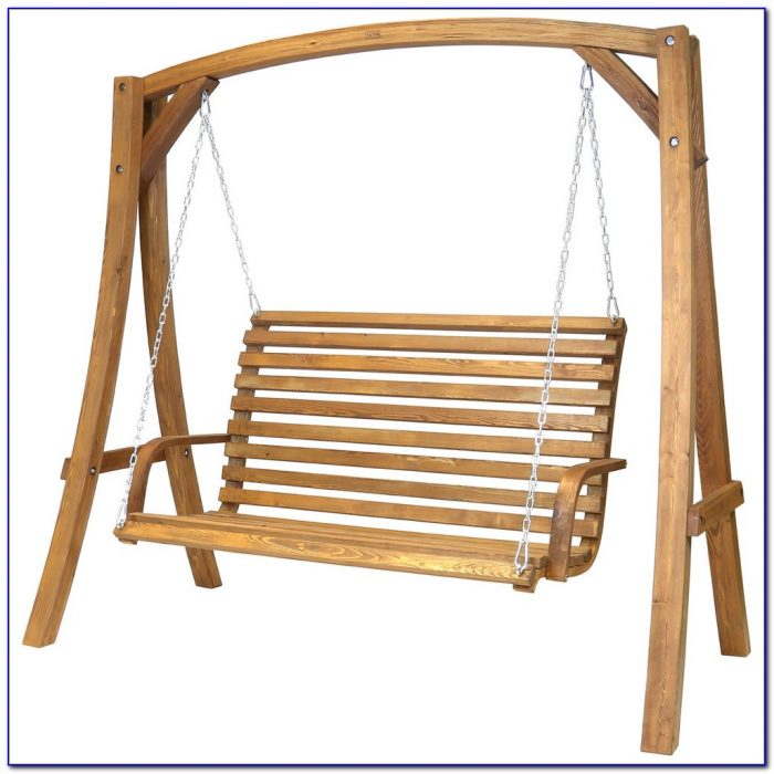 Wooden Garden Swing Benches With Arbour