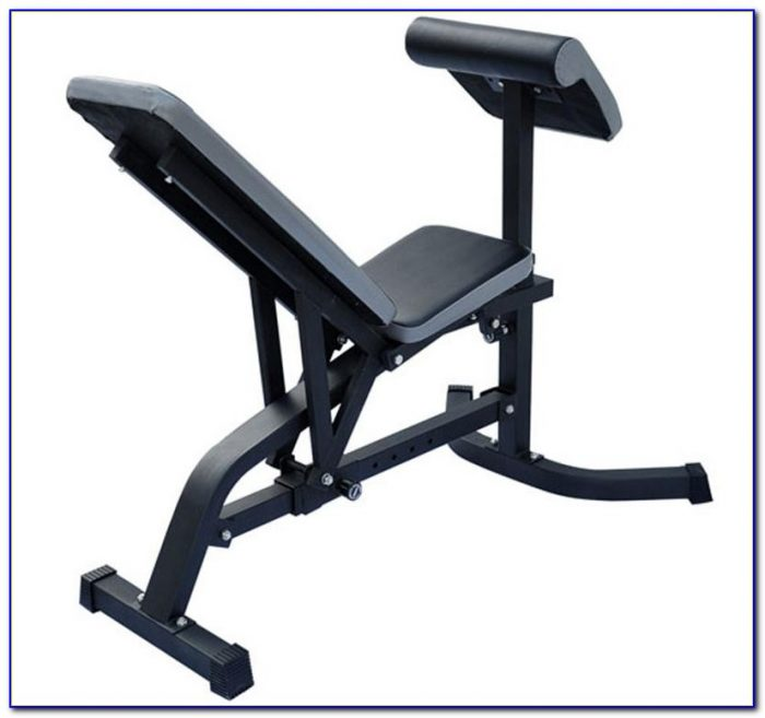 Folding Weight Bench With Preacher Curl Attachment Bench